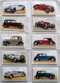 Full Set of 50 Cigarette cards: Motor Cars Second Series (1937)
