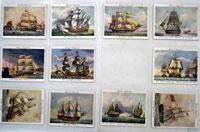 Old Naval Prints: Set of 22 of 25 Cigarette Cards (1936)
