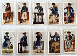 Full Set of 50 Cigarette Cards History of Naval Uniforms (1937)