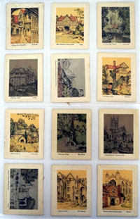 Picturesque Old England  Full set of 25 cards (1931)