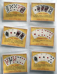 Full Set of 25 Cigarette Cards: The Game of Poker (1936) by Various