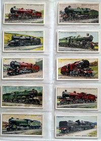 Full Set of 50 Cigarette Cards: Railway Locomotives (1930) by Various