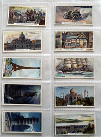 Full Set of 25 Cigarette Cards: Records of the World (1908) by Various