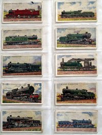 Full Set of 50 Cigarette Cards: Railway Engines (1924) by Various