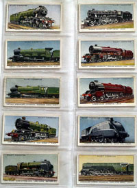 Full Set of 50 Cigarette Cards: Railway Engines (1936) by Various
