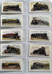 Full Set of 25 Cigarette Cards: Railway Locomotives (1980) by Various