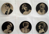 Full Set of 25 Cigarette Cards: Cinema Stars (1924) by Various