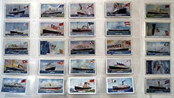 Full Set of 25 Cigarette Cards Ships and Their Flags (1924)