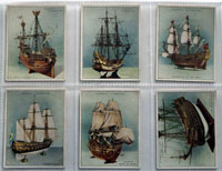 Full Set of 25 Cigarette Cards: Ship Models (1926) by Various