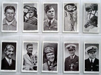 Full Set of 50 Cigarette Cards: Kings of Speed (1939) by Various