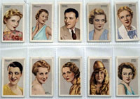 Full Set of 48 Cigarette Cards: Stars of Stage and Screen (1935) by Various