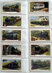 Full Set of 48 Cigarette Cards: Trains of the World (1937) by Various