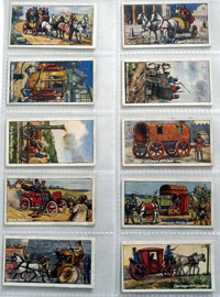 Full Set of 25 Cigarette Cards: Vehicles of All Ages (1924) by Various