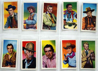 Full Set of 24 Cigarette Cards: Western Stars (1957) by Various