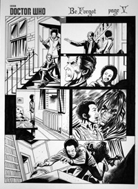 Dr Who: Be Forgot, page 5 art by Mike Collins