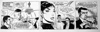 Modesty Blaise daily strip 5064 art by Neville Colvin