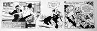 Modesty Blaise daily strip 5063 art by Neville Colvin