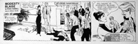 Modesty Blaise daily strip 5057 art by Neville Colvin