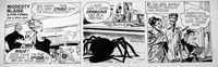 Modesty Blaise daily strip 5177 by Neville Colvin