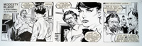 Modesty Blaise daily strip 6424A by Neville Colvin