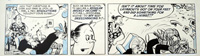 The Flutters daily strip X308 art by Neville Colvin