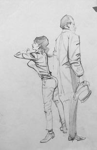 Modesty Blaise sketch 18 by Neville Colvin