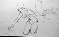 Modesty Blaise sketch 20 by Neville Colvin