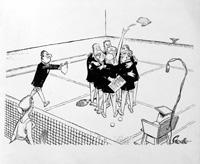 Wimbledon Tennis Dress Rules by Neville Colvin
