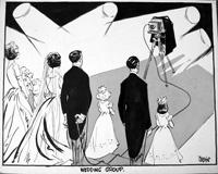 Wedding Group art by Neville Colvin