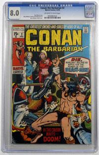 Conan the Barbarian #2 CGC SEALED GRADED 8.0 by Roy Thomas, Robert E Howard