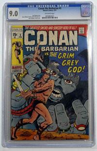 Conan the Barbarian #3 CGC SEALED GRADED 9.0 by Roy Thomas, Robert E Howard
