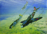 Dogfight during the Battle of Britain art by Graham Coton