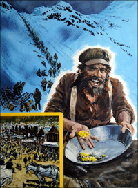 Panning for Gold during the Klondike Gold Rush art by Graham Coton