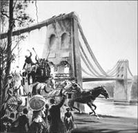 The Menai Bridge art by Graham Coton