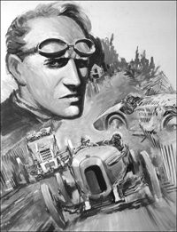 Henry Segrave - 200 MPH Master art by Graham Coton