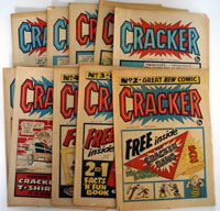 Collection of 12 Cracker comics 1975