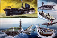 The Story of the Aircraft Carrier art by Roy Cross