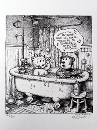 Singing in the Bathtub by Robert Crumb