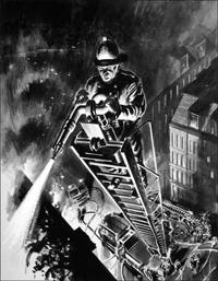 Fire Fighter art by Neville Dear