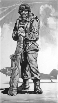 Paratrooper art by Neville Dear
