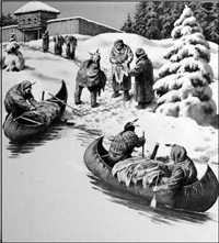 Hudson Bay Company Traders art by Neville Dear