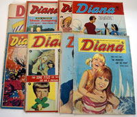 Collection of 15 Diana comics 1967/70