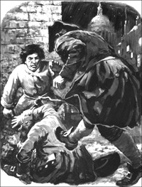 Journalist Attacked art by Cecil Doughty