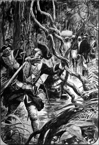 Clive of India - March Through The Jungle art by Cecil Doughty