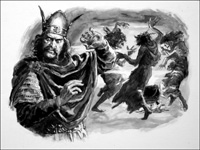 Macbeth and the Witches art by Cecil Doughty