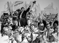 Peterloo art by Cecil Doughty