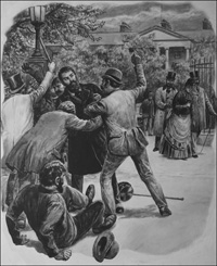 The Phoenix Park Murders of 1882 art by Cecil Doughty
