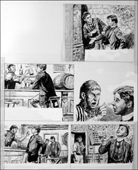 The Fifth Form at St. Dominic's - Pub (TWO pages) art by Cecil Doughty