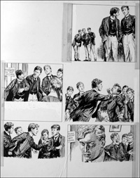 The Fifth Form at St. Dominic's - Slap (TWO pages) art by Cecil Doughty