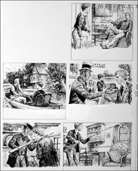 The Fifth Form at St. Dominic's - Fishing (TWO pages) art by Cecil Doughty